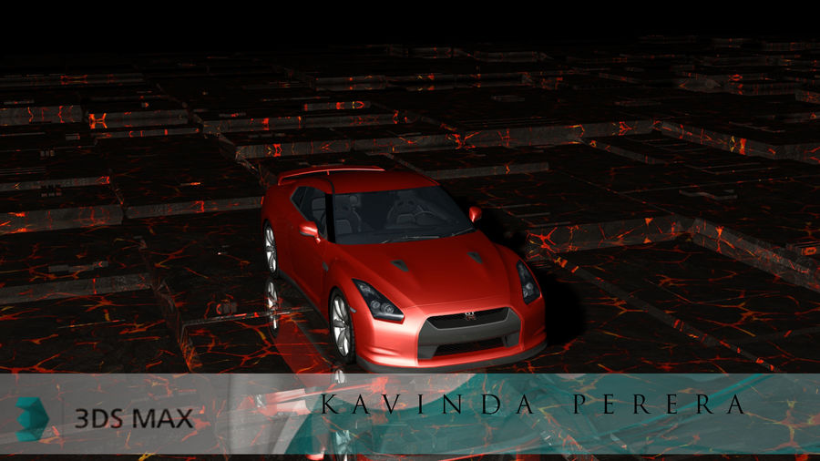 Nissan Skyline GTR royalty-free 3d model - Preview no. 2
