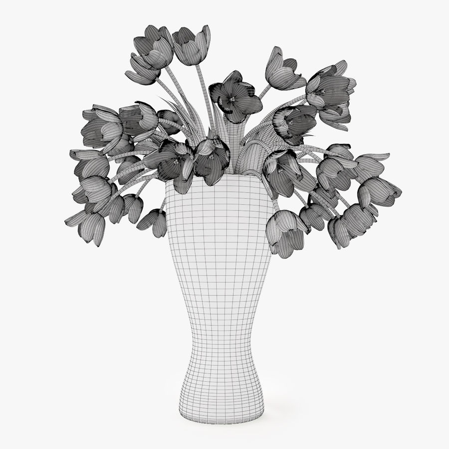 Fleurs de tulipes royalty-free 3d model - Preview no. 7