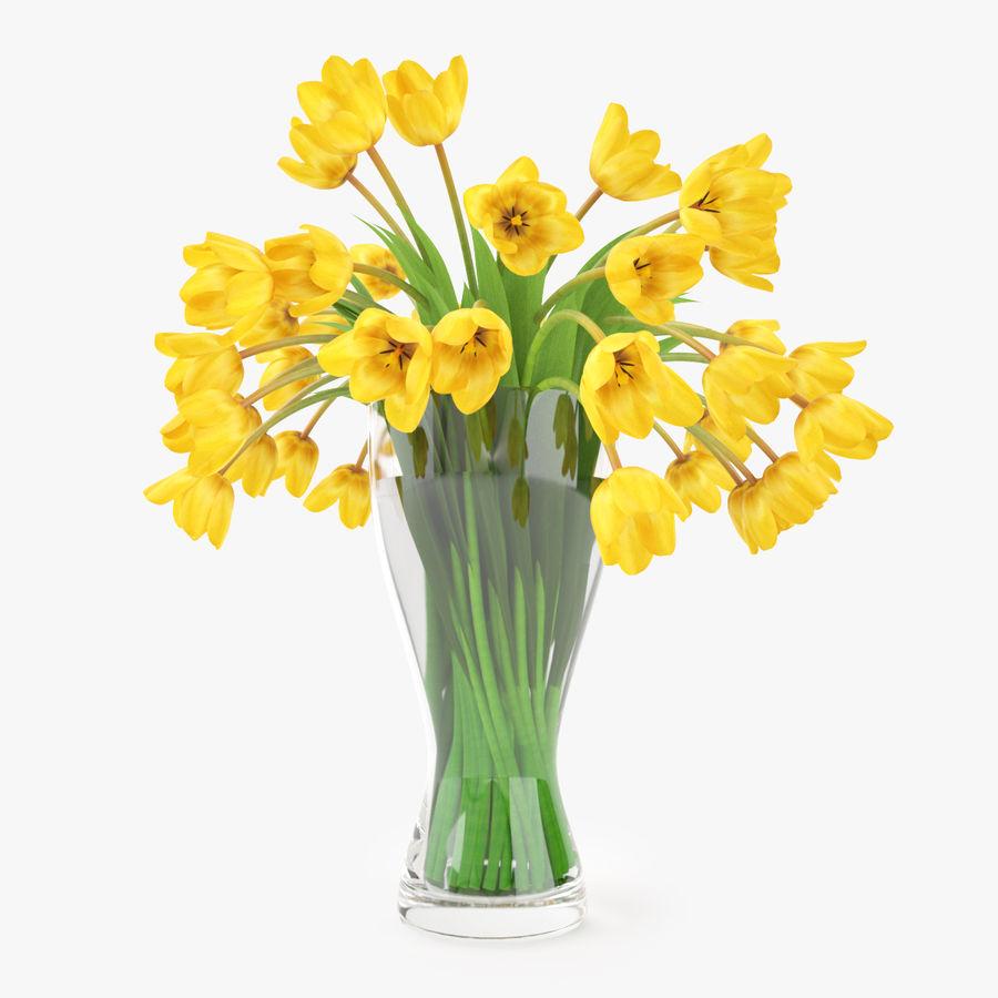 Fleurs de tulipes royalty-free 3d model - Preview no. 4