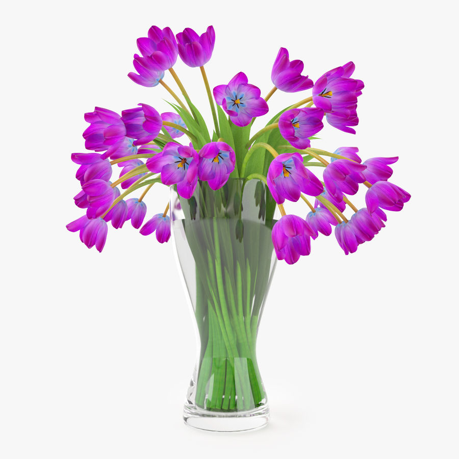 Fleurs de tulipes royalty-free 3d model - Preview no. 3