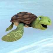cartone animato tartaruga 3d model