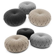 Tufted Round Ottoman 3d model