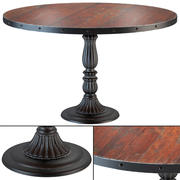 Französischer Soda-Brunnen Distressed Wood Kitchen Table 3d model