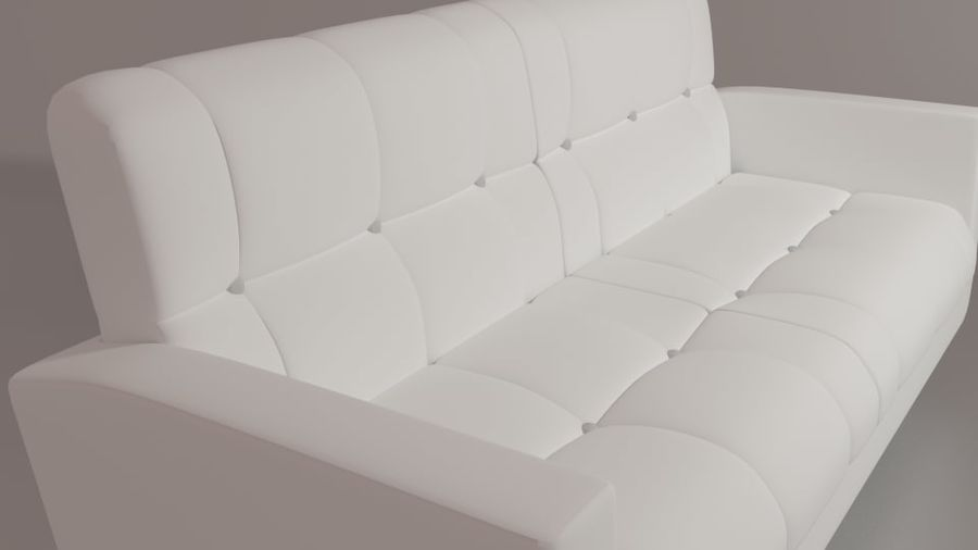 living room couch royalty-free 3d model - Preview no. 5