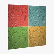 Marilyn Monroe 3D Panels 3d model