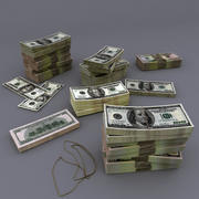 Rekeningen USD 3d model