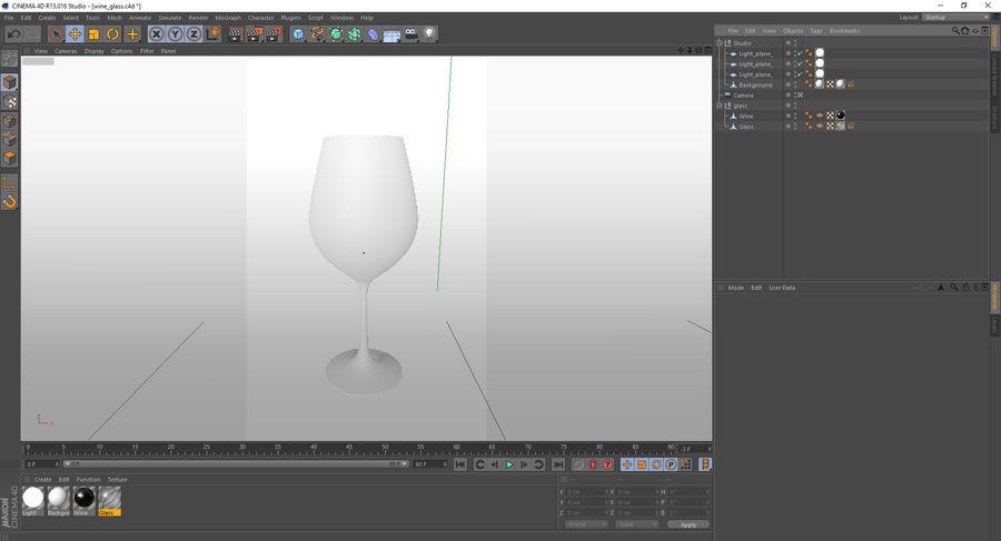 Бокал для вина royalty-free 3d model - Preview no. 6