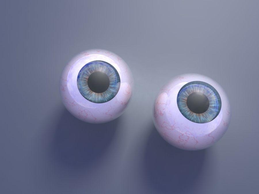 Eyeballs royalty-free 3d model - Preview no. 2