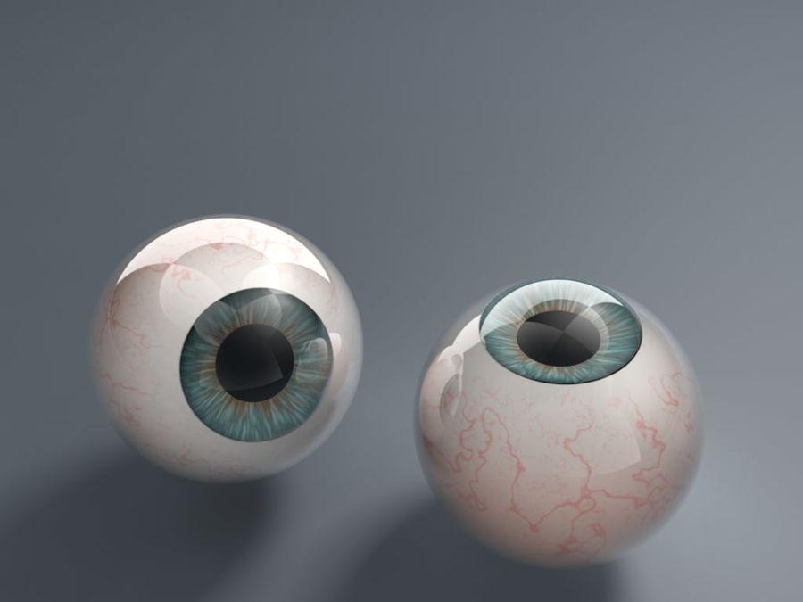Eyeballs royalty-free 3d model - Preview no. 1
