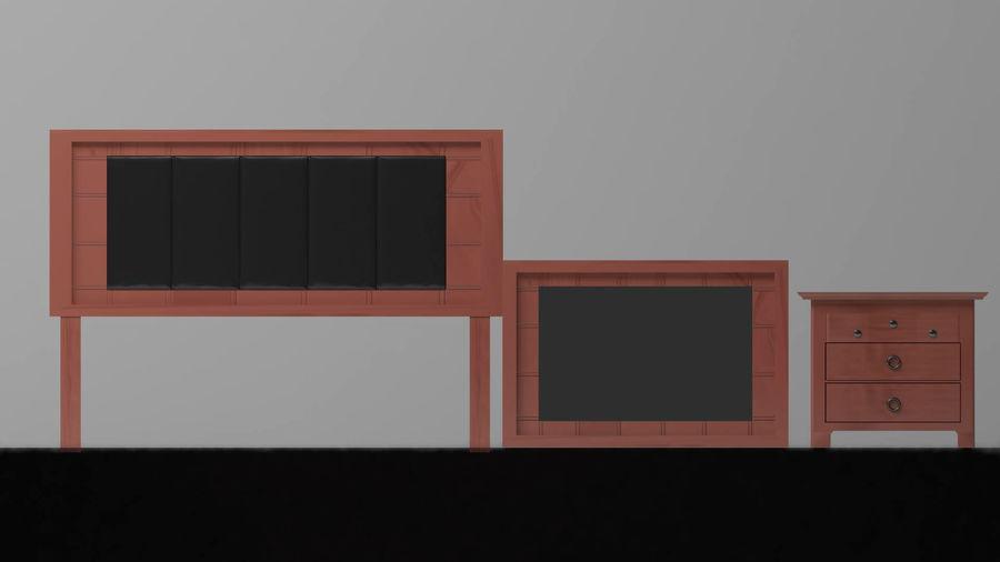 寝室の家具 royalty-free 3d model - Preview no. 3