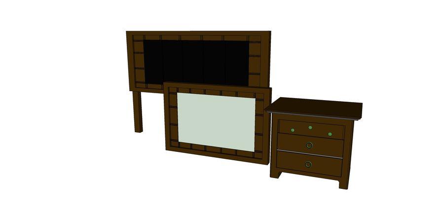 寝室の家具 royalty-free 3d model - Preview no. 5