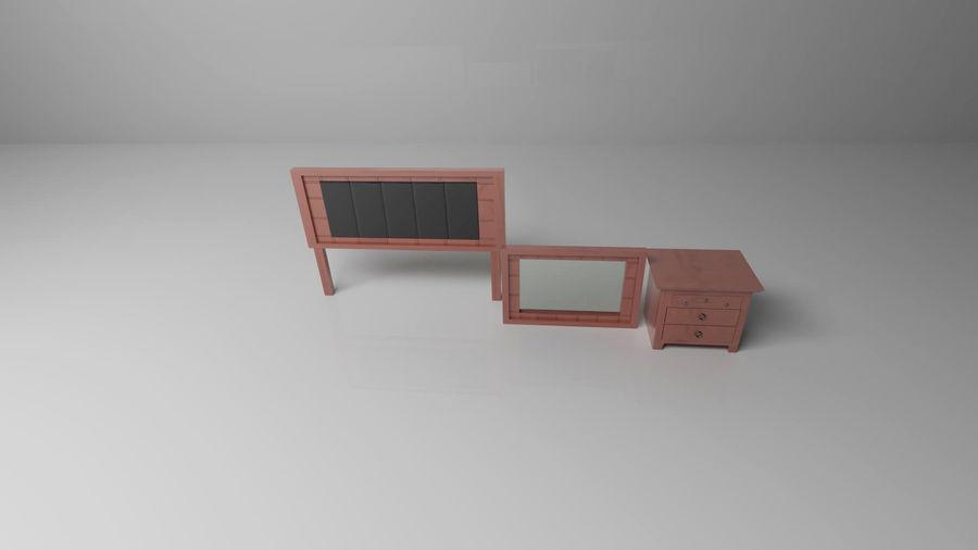 寝室の家具 royalty-free 3d model - Preview no. 4
