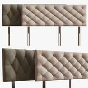 머리판 침대 3d model