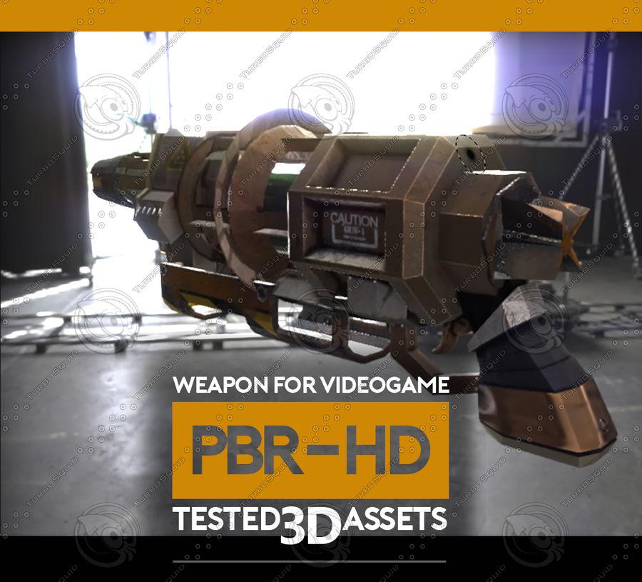 Arma pistola Radiación o Ácido royalty-free modelo 3d - Preview no. 3
