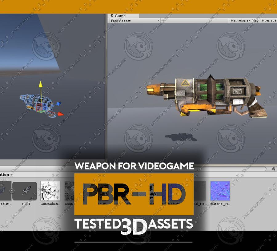 Arma pistola Radiación o Ácido royalty-free modelo 3d - Preview no. 2