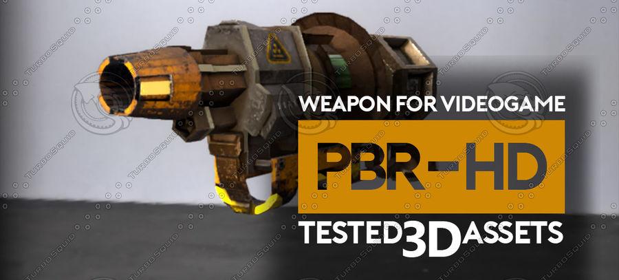 Arma pistola Radiación o Ácido royalty-free modelo 3d - Preview no. 5