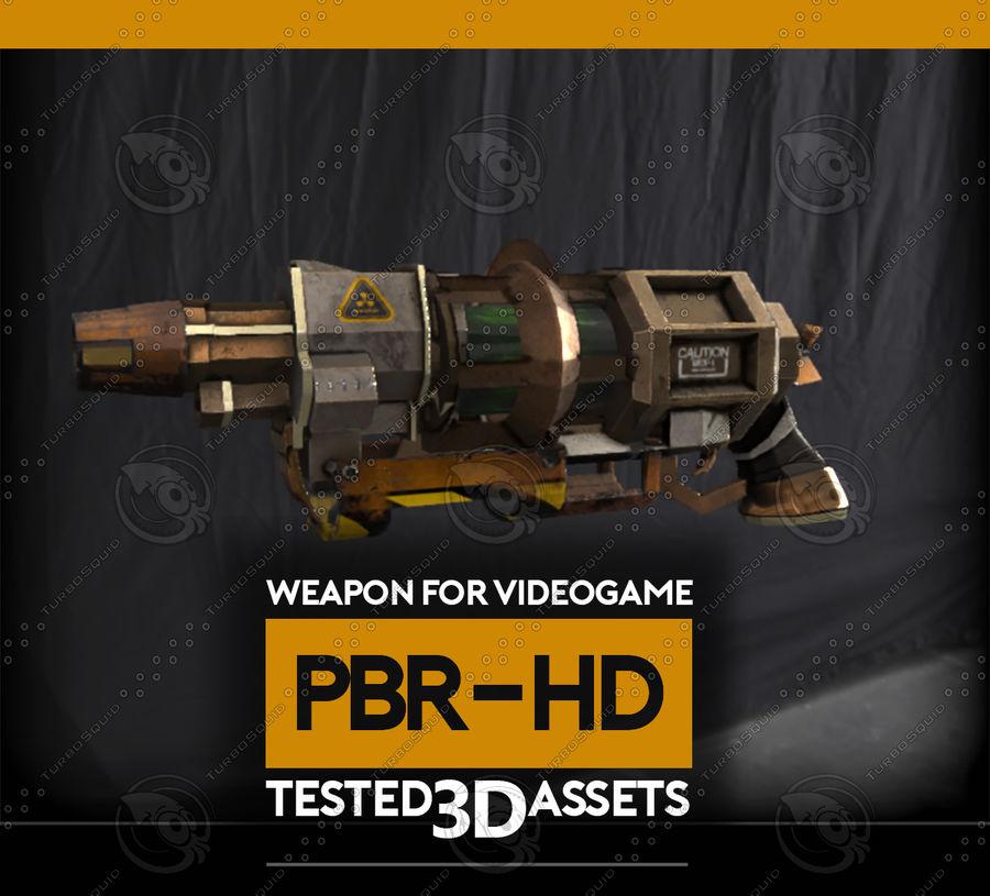 Arma pistola Radiación o Ácido royalty-free modelo 3d - Preview no. 4