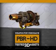 武器銃の放射線または酸 3d model