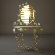 Toalettbord med spegel 3d model