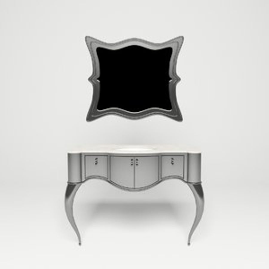 Toalettbord royalty-free 3d model - Preview no. 1