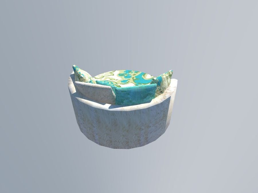 ROUND COUCH royalty-free 3d model - Preview no. 5