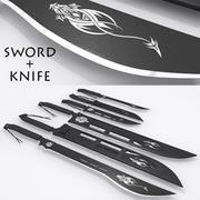 Miecz i nóż 3d model