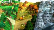 만화 숲 생성자 3d model