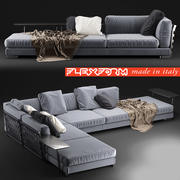 Sofa Cestone 09 Flexform 3d model