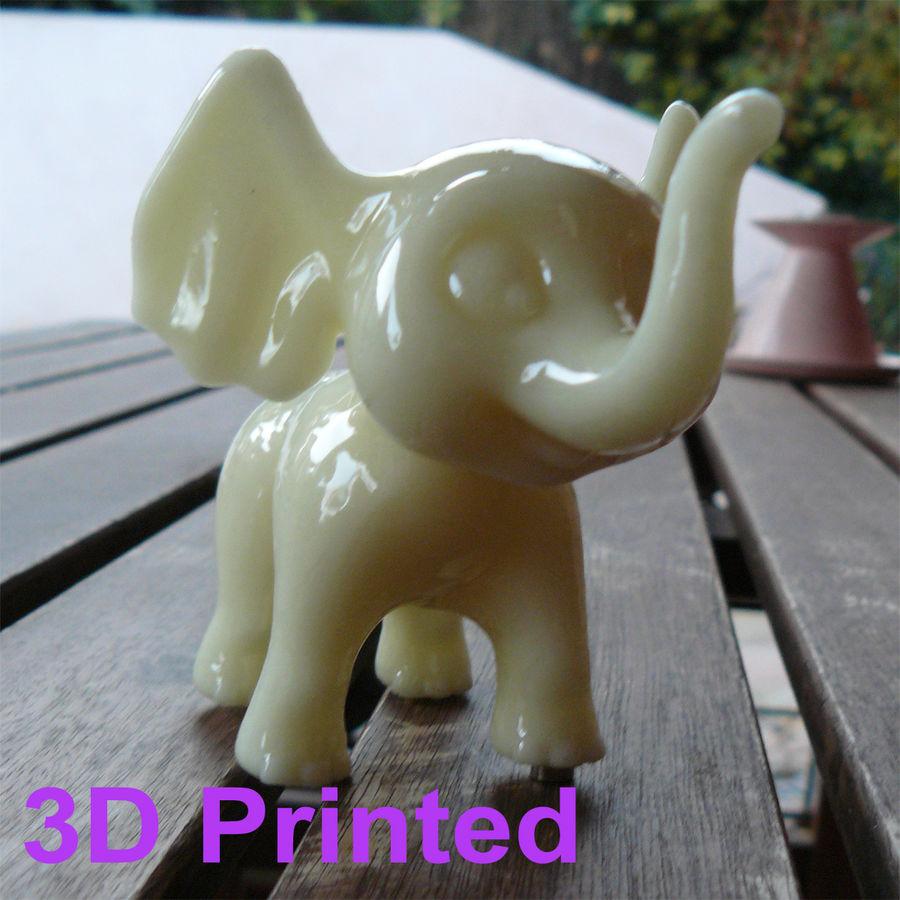 Dessin animé bébé éléphant gréé royalty-free 3d model - Preview no. 9