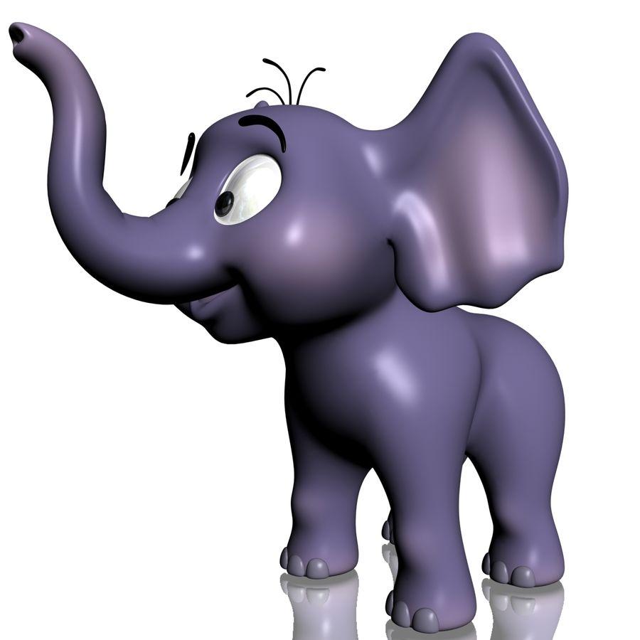 Dessin animé bébé éléphant gréé royalty-free 3d model - Preview no. 5