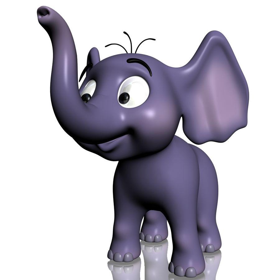 Dessin animé bébé éléphant gréé royalty-free 3d model - Preview no. 4