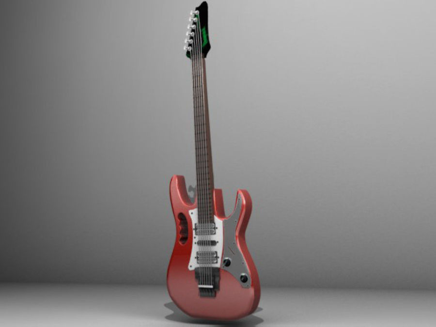 ibañez guitar royalty-free 3d model - Preview no. 1