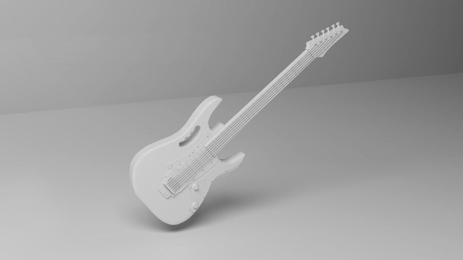 ibañez guitar royalty-free 3d model - Preview no. 2