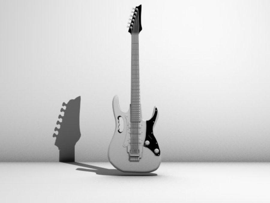 ibañez guitar royalty-free 3d model - Preview no. 4