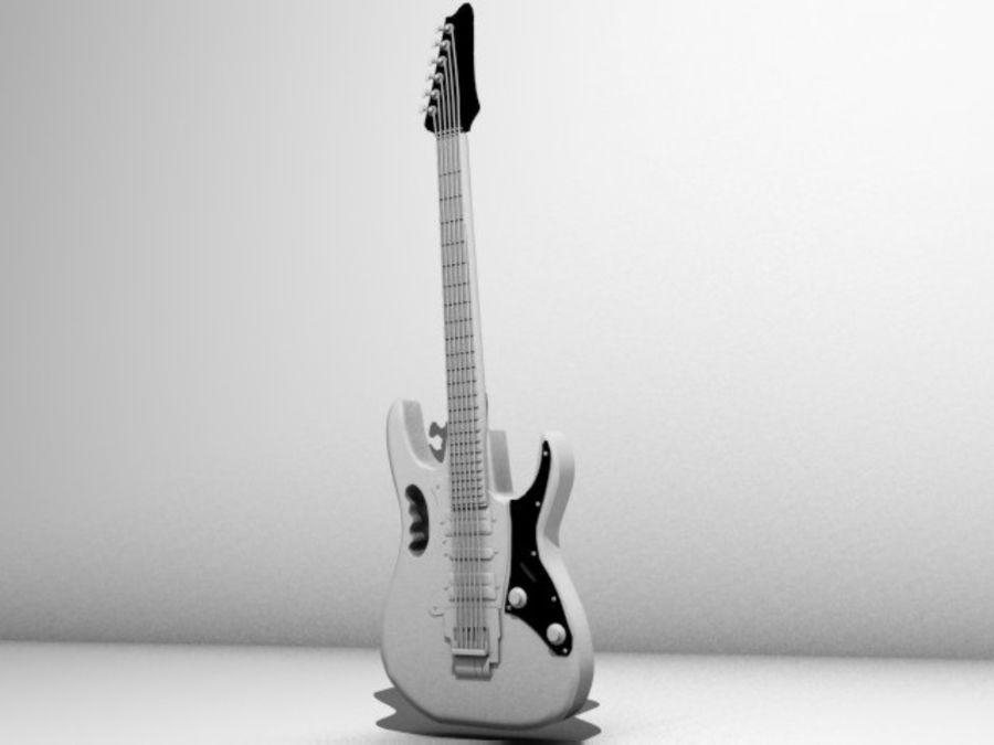 ibañez guitar royalty-free 3d model - Preview no. 5