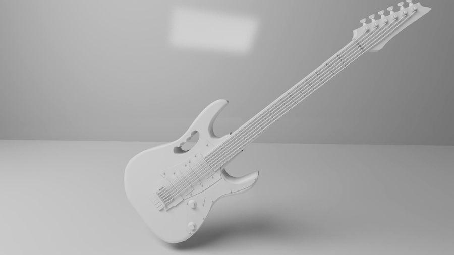 ibañez guitar royalty-free 3d model - Preview no. 3