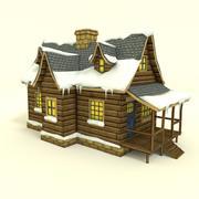 低ポリ冬の家 3d model