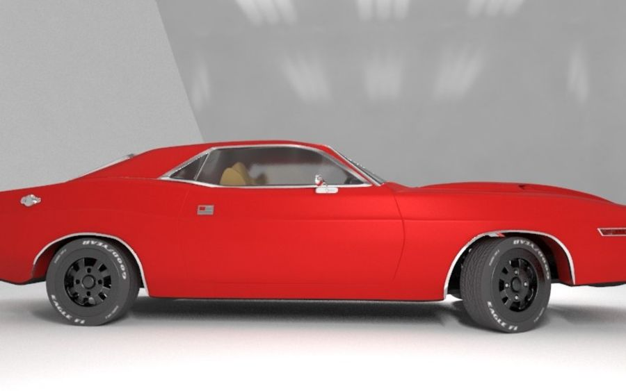 Dodge Challenger 1970 royalty-free modelo 3d - Preview no. 5
