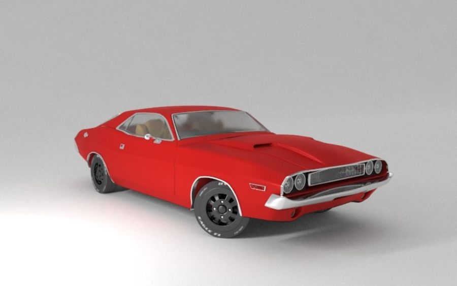 Dodge Challenger 1970 royalty-free modelo 3d - Preview no. 1