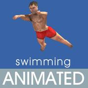 animaciones de natación modelo 3d