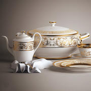 crockery set 3d model