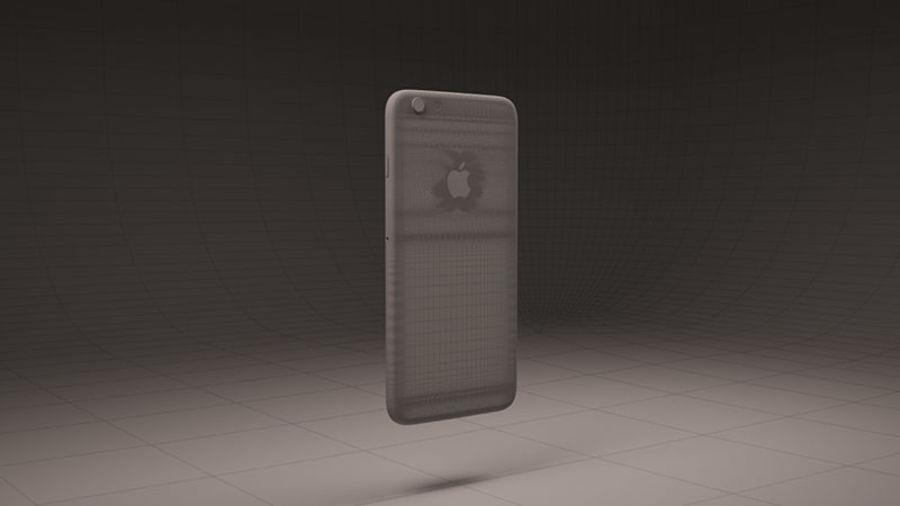 Apple iPhone 6S Guld royalty-free 3d model - Preview no. 9