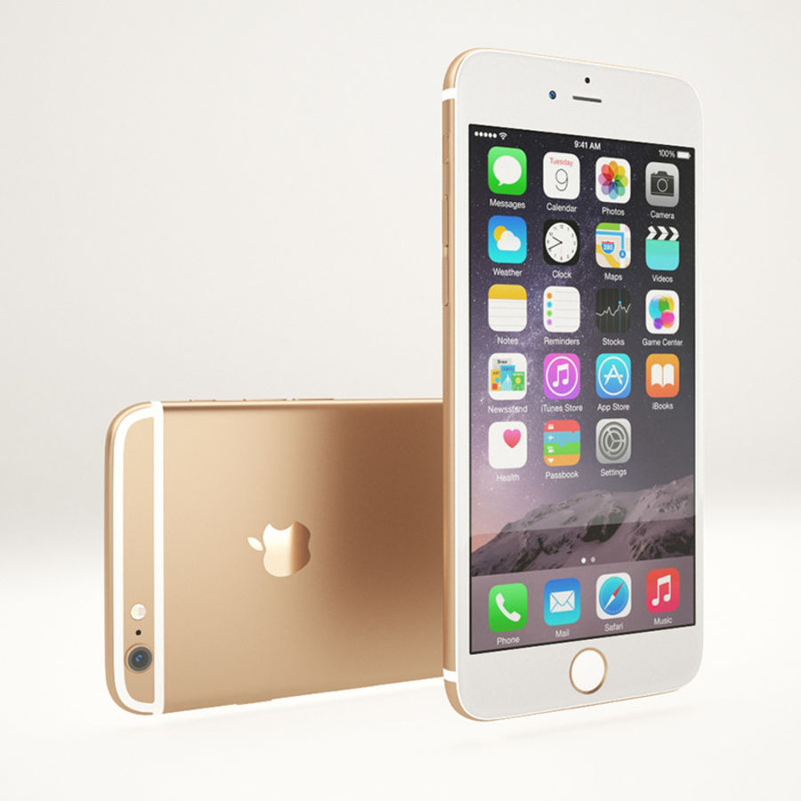 Apple iPhone 6S Guld royalty-free 3d model - Preview no. 3