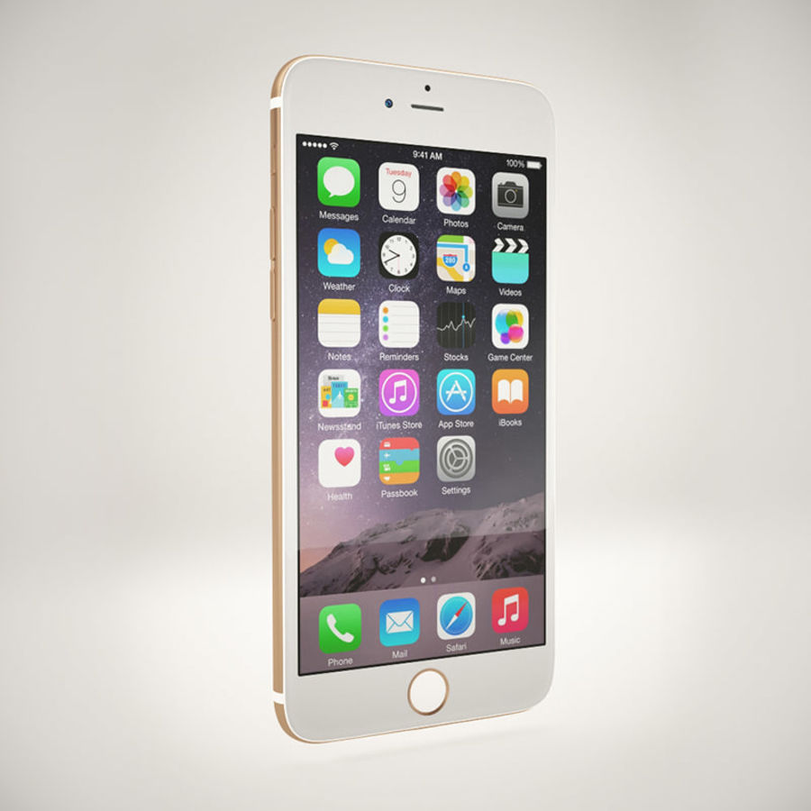 Apple iPhone 6S Guld royalty-free 3d model - Preview no. 4