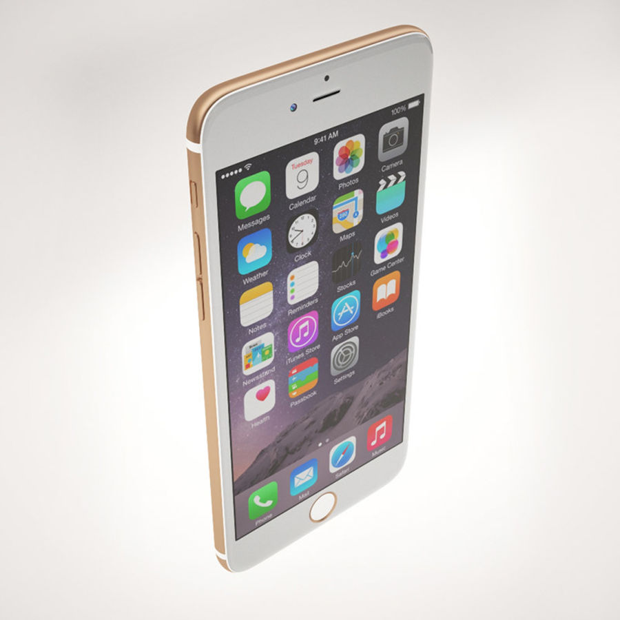 Apple iPhone 6S Guld royalty-free 3d model - Preview no. 5