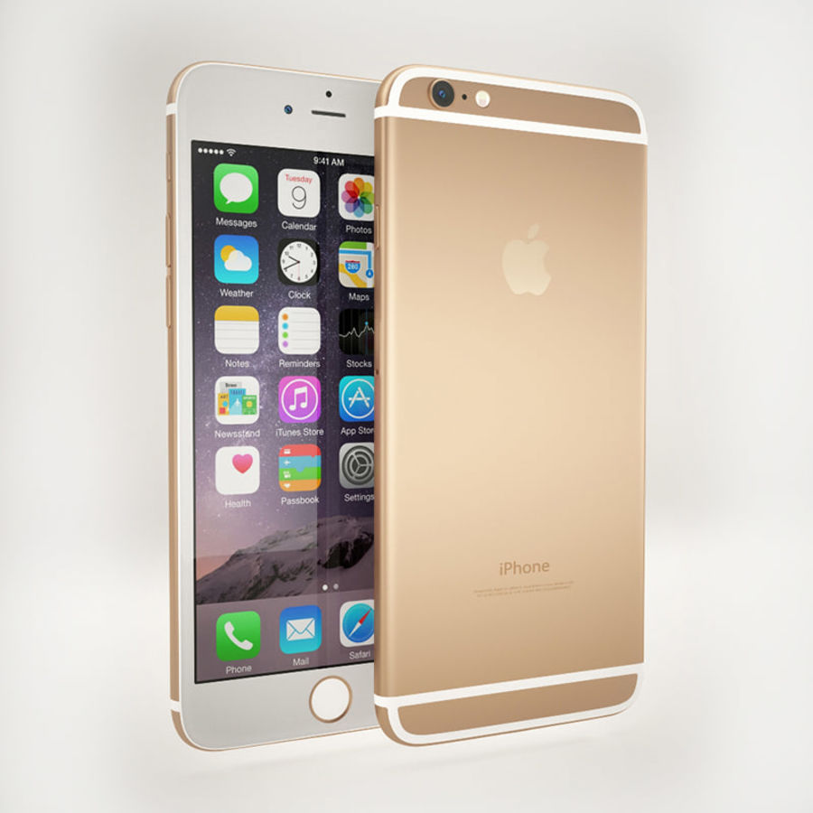 Apple iPhone 6S Guld royalty-free 3d model - Preview no. 2