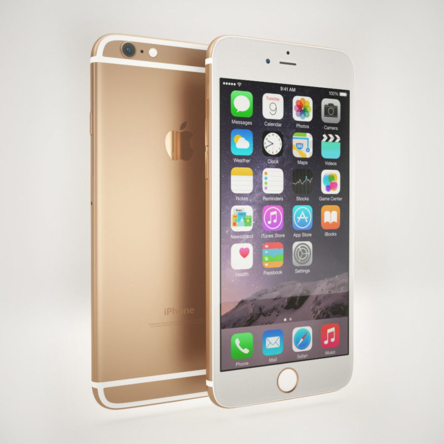 Apple iPhone 6S Guld royalty-free 3d model - Preview no. 1