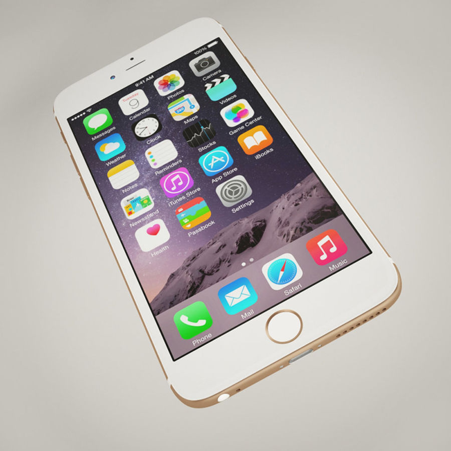 Apple iPhone 6S Guld royalty-free 3d model - Preview no. 7