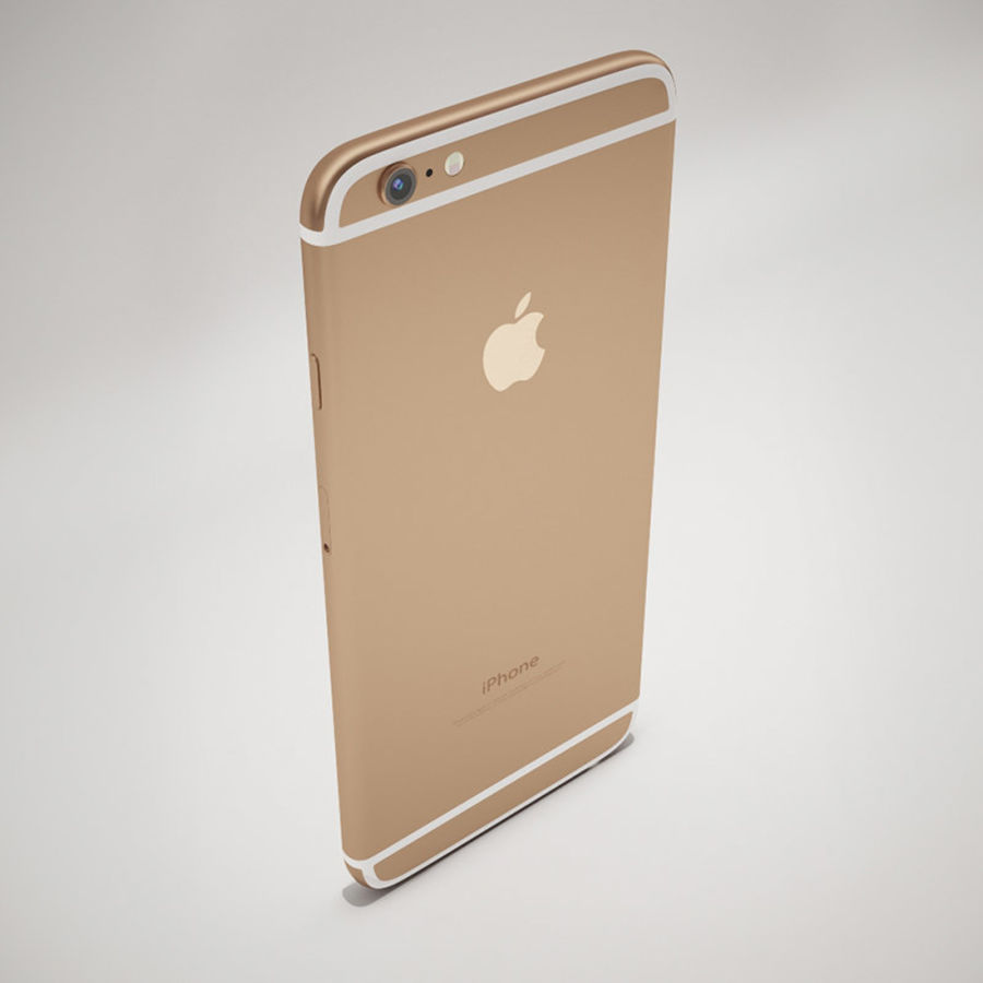 Apple iPhone 6S Guld royalty-free 3d model - Preview no. 6
