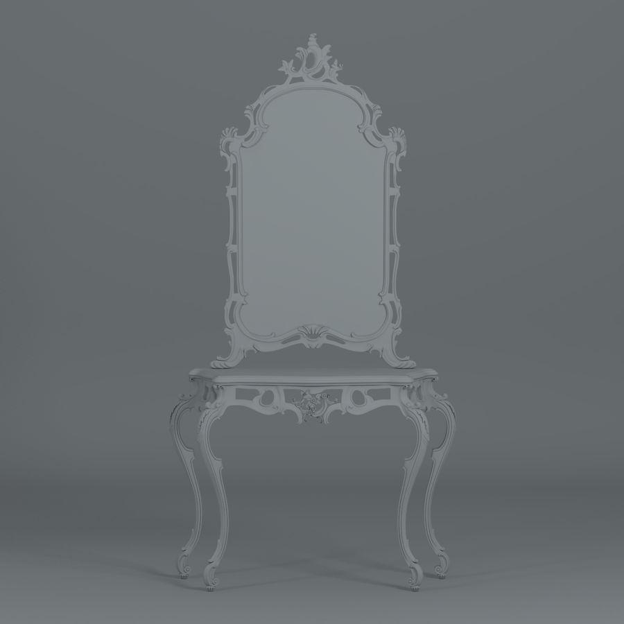 巴洛克式控制台 royalty-free 3d model - Preview no. 4